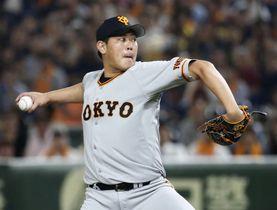 1失点完投で6勝目を挙げた巨人・山口俊=東京ドーム