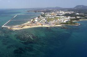 米軍普天間飛行場移設先の辺野古沿岸部=1日、沖縄県名護市