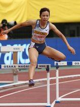 女子400メートル障害 57秒31で日本人トップの5位に入った宇都宮絵莉