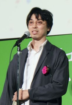 「PFFアワード2019」でグランプリを受賞した中尾広道監督=20日午後、東京都中央区