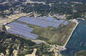 岡山県瀬戸内市に建設された国内最大級のメガソーラー