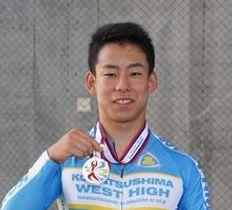 南九州インターハイの男子スプリントで2位となった太田