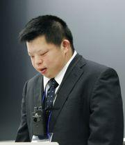 「日本ダウン症会議」の分科会で、自分の仕事や生活について話す森住真さん=11日、東京都豊島区