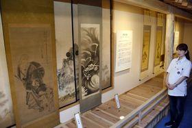 絵金の代表的な弟子、河田小龍らの作が楽しめるアクトランドの「絵金派アートギャラリー」(香南市野市町大谷)