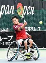 男子シングルスで昨年の決勝で敗れたゴードン・リードとの戦いを制し、準決勝に進んだ国枝慎吾