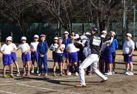 BCリーグ 栃木の選手が授業 壬生・羽生田小