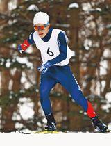 ノルディックスキー距離男子立位の川除大輝=2月、札幌市の白旗山競技場