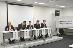 医療事故調査制度を巡り、名古屋市で開かれたシンポジウム=25日午後
