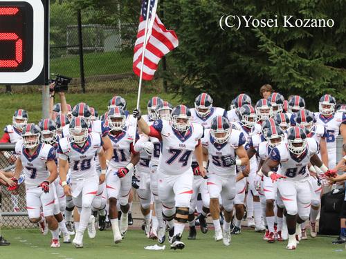 入場する米国代表の選手たち=撮影:Yosei Kozano