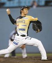 栃木GBの先発・前田=金沢市民野球場(提供)