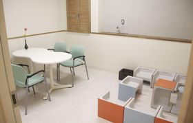 「沖縄県性暴力被害者ワンストップ支援センター」の面談相談室=19日午後、沖縄県内