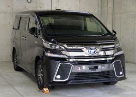 押収された、佐藤竜彦容疑者が乗っていたワゴン車=14日午前、愛知県警豊田署