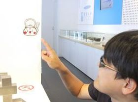 館内に隠れているやかんの妖精くんSUPER(超)=燕市産業史料館