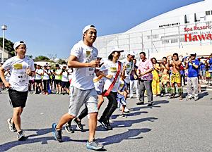 「1000キロ縦断リレー」福島県34区間つなぐ 360人がたすき