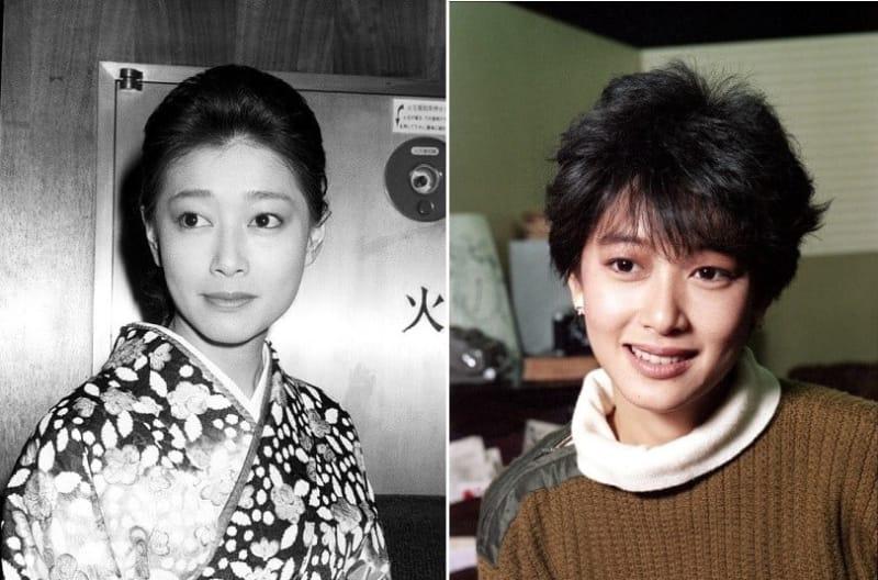 夏目雅子さん 1983年2月撮影(左)、85年1月、東京・五反田の稽古場で撮影