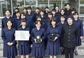 県高校文化部活動奨励賞を受賞した青森高校放送委員会