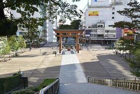 うつのみやファイナルの会場となるバンバ市民広場とバンバ通り(写真奥)