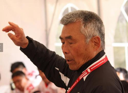 大学日本代表の監督を務めた水野彌一さん=写真提供:日本アメリカンフットボール協会