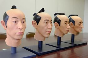 復元された4人の長岡藩藩主の頭部