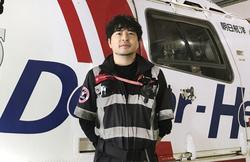 「Dコールネット」の通報でドクターヘリが出動した千葉県内の交通事故現場=2018年(日本医大提供)
