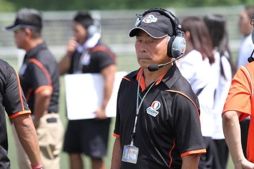 今季、チームを関西学生リーグ2部ブッロク優勝に導いた追手門学院の水野彌一総監督