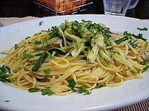 前冬完成した「牡蠣とプンタレッラのスパゲッティ」