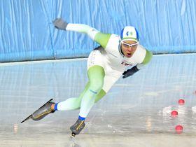 男子1000メートルを大会新で制し、2年連続で500メートルとの2冠を獲得したジョアオ・ビクトル=県クリスタルパーク恵那