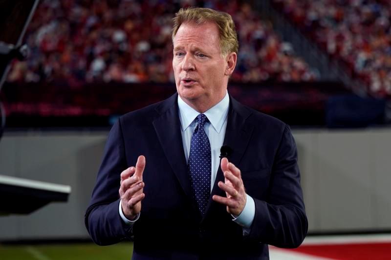 悲願だったレギュラーシーズンゲームの増加を実現した、NFLのロジャー・グッデル・コミッショナー(AP=共同)