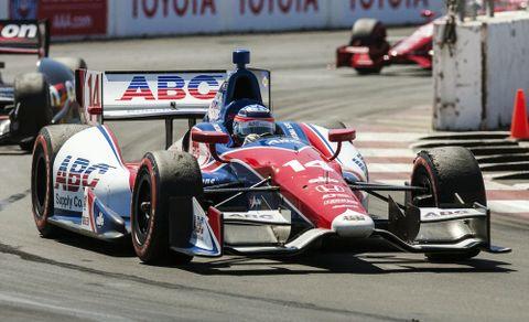 佐藤琢磨が日本人初優勝を果たした2013年4月のインディカー・シリーズ第3戦=米カリフォルニア州ロングビーチ(AP=共同)