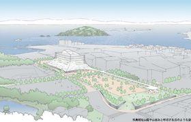 大村市の新市庁舎の完成イメージ案(市提供)