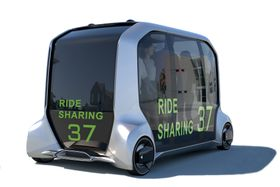 トヨタ自動車が東京五輪・パラリンピックで提供する完全自動運転車「e―Palette(イーパレット)」のイメージ