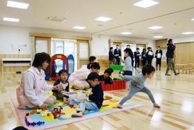 トヨタ自動車が開所する企業内託児所「ぶぅぶフォレスト」=20日午後、愛知県豊田市