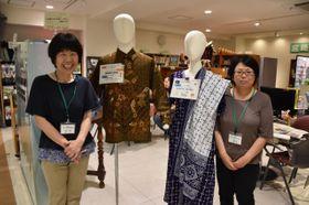 県国際交流協会に飾られている世界各国の民族衣装=5日午前、宮崎市