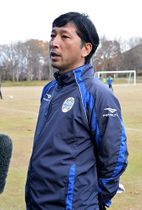 リーグ最終戦に向けた思いを語る木山隆之監督=天童市・県総合運動公園ラグビー場