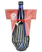 会津木綿のボトルカバー(桜)