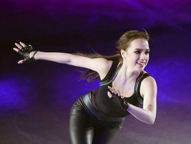 3月29日、アイスショー「スターズ・オン・アイス」の大阪公演で演技するアリーナ・ザギトワ選手=東和薬品ラクタブドーム