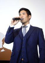 リーグ制覇のキーマンに、自身を挙げた横浜DeNA・桑原 =9日、横浜市内