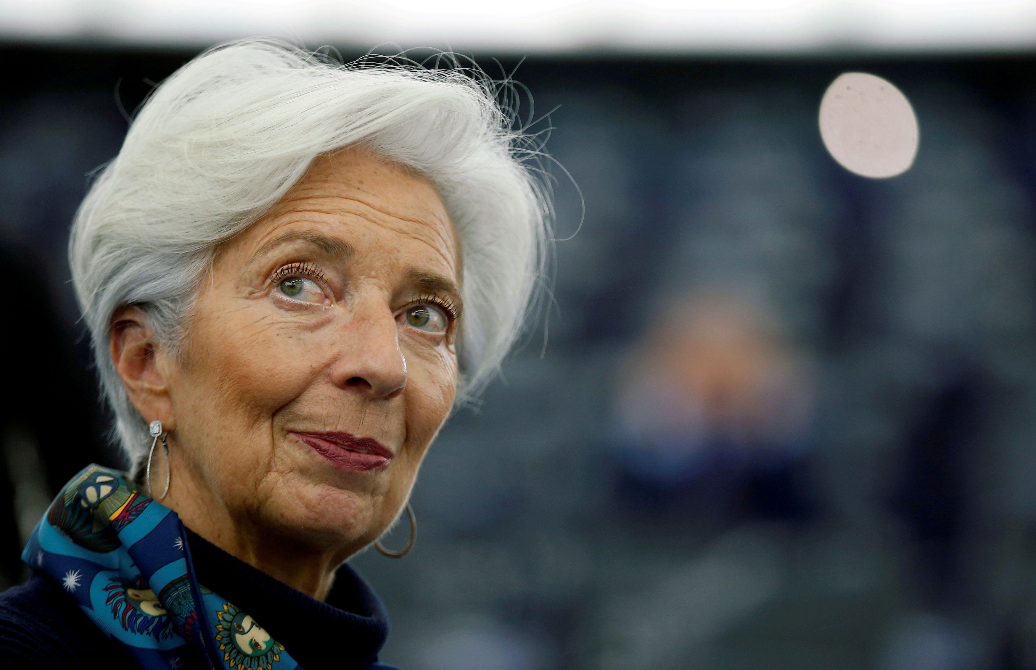 欧州中央銀行(ECB)のラガルド総裁=2月(ロイター=共同)
