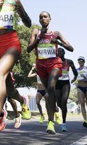 リオデジャネイロ五輪の女子マラソンに出場したバーレーンのユニスジェプキルイ・キルワ=2016年8月(共同)