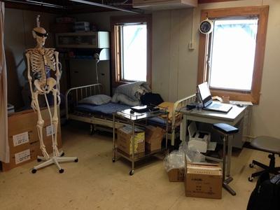 3度目の居室になった「温倶留中央病院」の病室