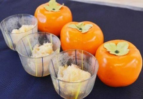 新デザートは「柿氷」