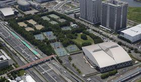 有明テニスの森公園=2015年6月、東京都江東区
