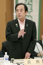 全国知事会議であいさつする上田清司埼玉県知事=23日午前、富山市