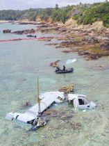 2016年12月15日、名護市の浅瀬で大破した米軍のオスプレイ。事故が繰り返されても、地位協定の壁で日本側は捜査すらできない