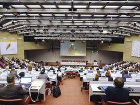 ジュネーブで開幕した「水銀に関する水俣条約」の第2回締約国会議=19日(共同)