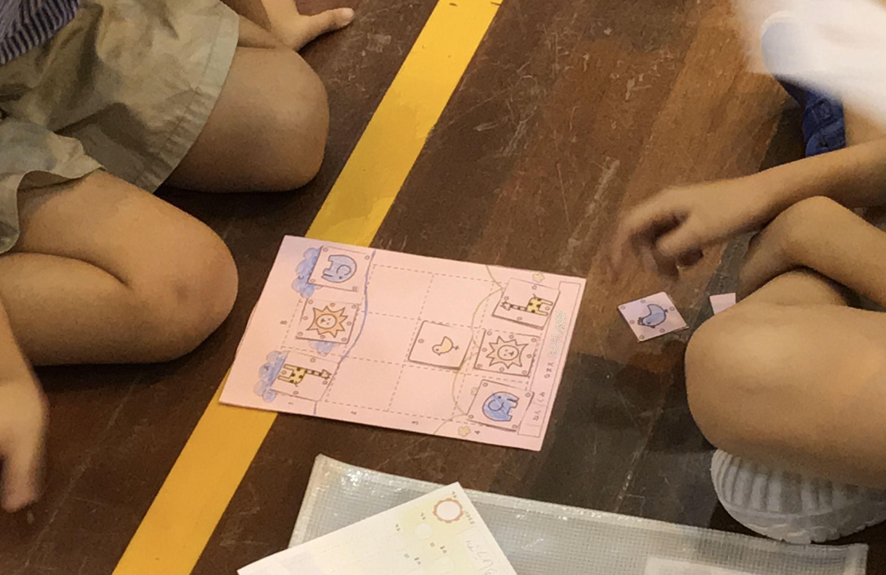 盤駒は子どもたちの手作り