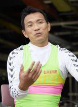 東京五輪を目指す意向を明らかにした武田大作選手=7日、埼玉県戸田市