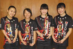 7月の世界大会に出場する高校1年生チーム「ROJER」=大田区で