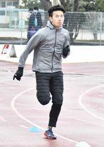 東京パラリンピックの陸上男子400メートルで代表に内定した石田駆=2月、大垣市内