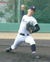〈練習試合〉石岡一-関大第一 5回無失点と好投した石岡一のエース岩本=大阪府高槻市、関大野球場